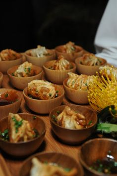 Party Food Serving - Appetizers - Food Presentation - Food Styling - Food Plating -Mini Bamboo Appetizer Bowls