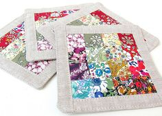 In one of my wanders round the web in search of scrap projects, I found this wonderful way of making very small pieced blocks by the amazing Elizabeth Hartmann. I have used a rather slap-dash and l...