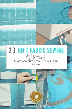 20 Tutorials you Need to Know about Sewing Knit Fabrics | My Golden Thimble