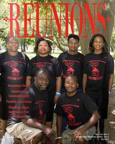 Reunions Magazine Spring Issue 2013 Volume 23 by ReunionsMagazine, $3.00. From High School reunions to family, military, and any other kind, Reunions Magazine covers it all. Issue highlights: Reunion food, Generous Genealogists, Family reunions, Finding class members for reunion.