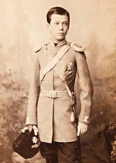 Teenage Tsarevich Nicholas Alexandrovich/ Quite the resemblance to his father!