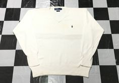 Vintage Polo Ralph Lauren small pony knit sweater Size L by AlivevintageShop on Etsy