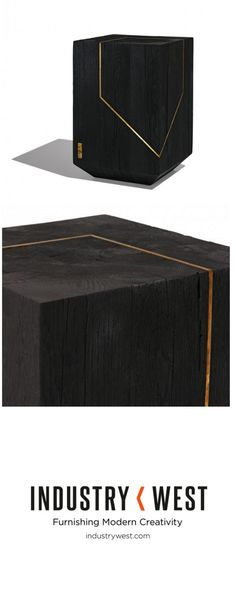 Industry West is proud to be the exclusive U.S. retailer of the Bucharest based Materia Studio. Established in 2014 by a collective of young creatives Materia focuses on the natural beauty of raw materials and sustainable design. The Faug End Table is a sculptural object with a bold geometry inspired by top-heavy brutalist architecture that can function easily in any space as seating or a small table.