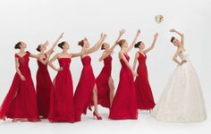 2012 Rosa Clara Pretty Bridesmaid with long dress. Red, Pink and Violet Bridesmaid Dresses Red Bridemaids Dresses, Red Bridesmaids, Wedding Bridesmaid Dresses, Bridal Dresses, Girls Dresses, Prom Gowns, Lace Dresses, Pretty Dresses, Red Wedding