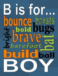 Customizable Subway Art B is for Boy Printable by iwantthatcrafts, $2.00