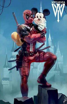 #Deadpool #Fan #Art. (Deadpool, where are you going after all the killing?.. I'm going to Disneyland!!) Ceasar Ian Muyuela. (THE * 5 * STÅR * ÅWARD * OF: * AW YEAH, IT'S MAJOR ÅWESOMENESS!!!™) ÅÅÅ+