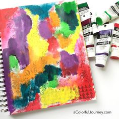 How to randomly pick colors and let go of control art journaling video tutorial