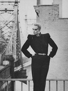 American vogue April 1980 One of my favorite dresses from the 80's was a Dior off the rack 'China Collection' It looked very much like this, made of dark indigo 'Mao Cloth'  I can nearly weep thinking of that dress now, it was so beautiful!