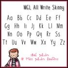 MGL All Write Skinny:  This is a fun and FREE font for personal or commercial use in your classroom or teaching resources.