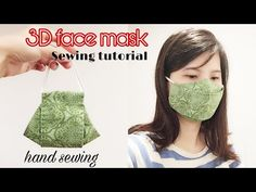 Face Mask Sewing Tutorial / How to make Face Mask with Filter Pocket / DIY Cloth. - Face Mask Sewing Tutorial / How to make Face Mask with Filter Pocket / DIY Cloth Face Mask – Free - Easy Homemade Face Masks, Easy Face Masks, Diy Face Mask, Sewing Tutorials, Sewing Hacks, Tutorial Sewing, Sewing Projects, At Home Face Mask, 3d Face