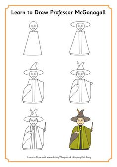 Learn to draw Professor McGonagall