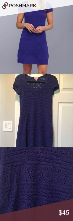Lilly Pulitzer Paulette Crochet Shift Dress Great condition. Super soft with solid slip underneath. Scoop neck and goes to my knees (I'm 5'1) Lilly Pulitzer Dresses Midi