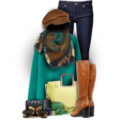 """Teal & Caramel"" by cynthia335 on Polyvore"