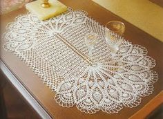 شغل ابره NEEDLE CRAFTS: مفرش طاوله رائع - pretty table doily in crochet