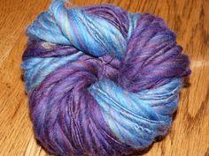 THICK-N-THIN Merino Handspun Yarn ---63 Yards---