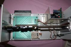 Inside the ToolBus Zorro II expansion chassis for Amiga 1000 (2 slot)
