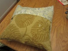 No Sew Pillow Cover Envelope Style