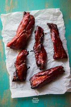 Easy Foolproof Chinese Char Siu (Chinese BBQ Pork) - Learn how to easily make Chinese-style barbecued pork that is perfectly tender, sticky, and sweet in the oven. Made with natural red color. Asian Bbq, Asian Pork, Pork Recipes, Cooking Recipes, Cooking Ribs, Cooking Chef, Bbq Pork Tenderloin, Chinese Bbq Pork, Chinese Red Pork Recipe