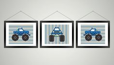 Set of 3 Monster Truck 8 x 10 Illustrations  by KVPgraphics, $7.00.  Also, check out my sons YouTube channel Boys with Toys. We post fun videos of playing, learning, exploring and more. https://www.youtube.com/channel/UC6-HDh4BJspDCduBLRP9cQw