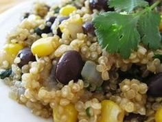 Always want to make quinoa more but don't have a lot of recipes for it. So this mixture of quinoa, black beans, corn, and spices will be one I need to try! Vegetarian Recipes, Cooking Recipes, Healthy Recipes, Cooking Tips, Cooking Food, Healthy Dinners, Delicious Recipes, Vegan Vegetarian, Great Recipes