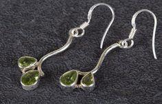 Silver Earrings – Peridot Earring, 925 Silver Earring, Boho Earring – a unique product by Midas-Jewelry on DaWanda