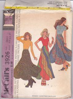 Swirler Skirt 1970s Vintage Sewing Pattern by ViennasGrace on Etsy