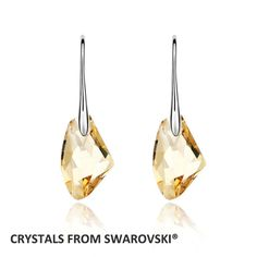 100% Genuino Elementos de Swarovski Gota Cuelga Los Pendientes Muchacha de Las Mujeres de Piedra Grande de Cristal Colgante Pendiente de La Joyería Al Por Mayor
