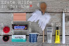 blick7: Inhalt zum Erste-Hilfe-Koffer in der Ehe [Geschenk zur Hochzeit, Verlobung, Polterabend, Junggesellinnenabschied]
