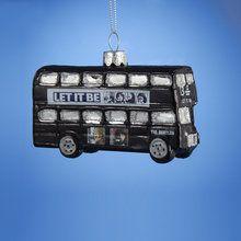 Glass Beatles London Bus Ornament
