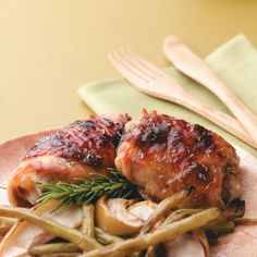 Apple-Brined Chicken Thighs Recipe from Taste of Home