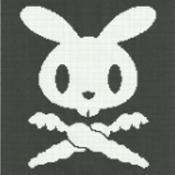 bunny skull & crossbones afghan graph - via @Craftsy