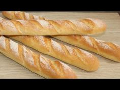 No Salt Recipes, Cake Recipes, Chipotle Rice, Baguette Recipe, Ciabatta, Dry Yeast, How To Make Bread, Hot Dog Buns, Food Videos