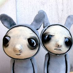 Loopy Goth Art Doll Worry Bunny .