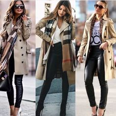 Fall and winter looks Winter Fashion Outfits, Look Fashion, Winter Outfits, Autumn Fashion, Fashion 2017, Womens Fashion, Classy Outfits, Stylish Outfits, Trench Coat Outfit