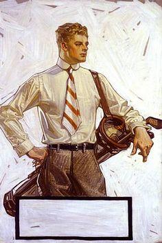 J. C. Leyendecker illustration for Arrow collars