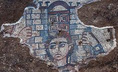 5th C. Israel, in a late Roman era synagogue at Huqoq in eastern Galilee, a second mosaic of Samsom has been found. Images of him are very rare as he was not universally revered because of his notorious and fatal association with non-jewish women.