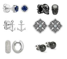 Be careful with color when buying the dimond earing for men