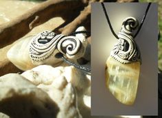 Silver moonstone Viola pendant and Indicalite / by Khayanite, $33.00