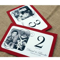 throughout the years table numbers at different ages so cute!!!