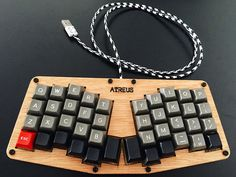 Atreus, SP Dolch + blanks, Eastern Collective USB Cable and some nylon screws.