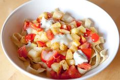 Erikas LCHF for everyday and party: LCHF pasta with squash, tomato and gorgonzola