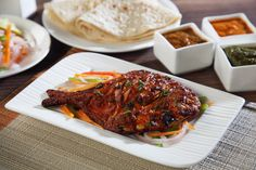 Try fish the Tandoori way. Marinated with ginger garlic and spices and cooked over charcoal, try the captivating ‪#‎TandooriPomfret‬ Yummy!!!