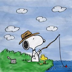 Snoopy and Woodstock like to fish! Peanuts Cartoon, Peanuts Snoopy, Happy Father Day Quotes, Happy Fathers Day, Peanuts Characters, Cartoon Characters, Caricatures, Charlie Brown Y Snoopy, Snoopy Und Woodstock