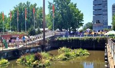 """Spruce Street Harbor Park on the Delaware River in the City of Philadelphia got listed by Huffington Post as one of the """"World's Best Urban Beaches"""" #Philadelphia #placemaking #urbanism"""