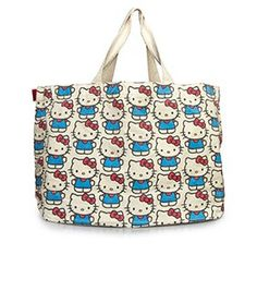 4c7ae94a80 Hello Kitty All-over Print Beach Tote Large Canvas