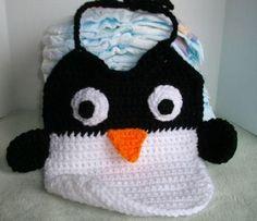 Picture of Crochet a Penguin Bib
