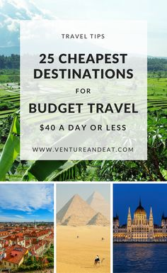 Budget Travel Destinations | Cheap Destinations | Can't decide where to go next, but on a budget? Don't worry. I've compiled 25 of the cheapest destinations that won't break the bank. These destinations are $40 a day or less and include a few surprise cities! Your money will go a long way in these destinations!