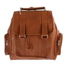 Piel Leather Double Loop Flap-Over Laptop Backpack 3000 - Saddle Leather Backpacks Leather Laptop Backpack, Brown Leather Backpack, Saddle Leather, Backpack Straps, Laptop Bag, Leather Bag, Drawstring Backpack, Brown Backpacks, Leather Backpacks