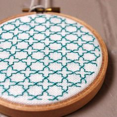 Islamic Star Embroidery / OOAK by gatherform on Etsy