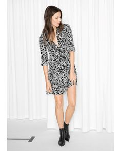 &OTHER STORIES black buttoned floral dress